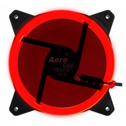 Ventola da 120mm con illuminazione ad anello Dual Led Aerocool Rev RED
