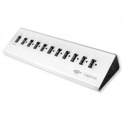 USB2 Hub with 11 Aluminium Doors with Quick Charge
