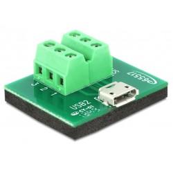 Adattatore da Micro USB Femmina a Terminal Block 6 pin