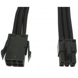 Cavo Prolunga di alimentazione interna PCI-E a 6 Pin 30 cm con Guaina Nera