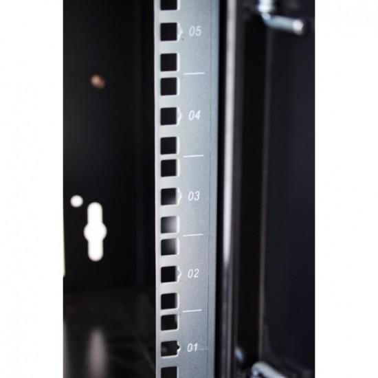 """Armadio Rack da 10"""" a muro 6 unità con pannelli asportabili Grigio"""