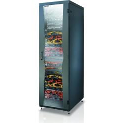 """Armadio NetRack da 19"""" 600x800mm per 24 Unità colore Nero da Assemblare"""