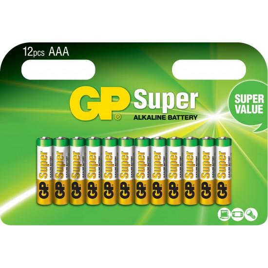 Confezione da 12 Batterie AA Stilo GP Super