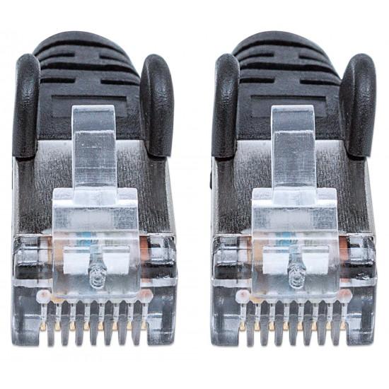 Cavo Patch di Categoria 7 Plug RJ45 6A S/FTP LSZH da 30m Nero