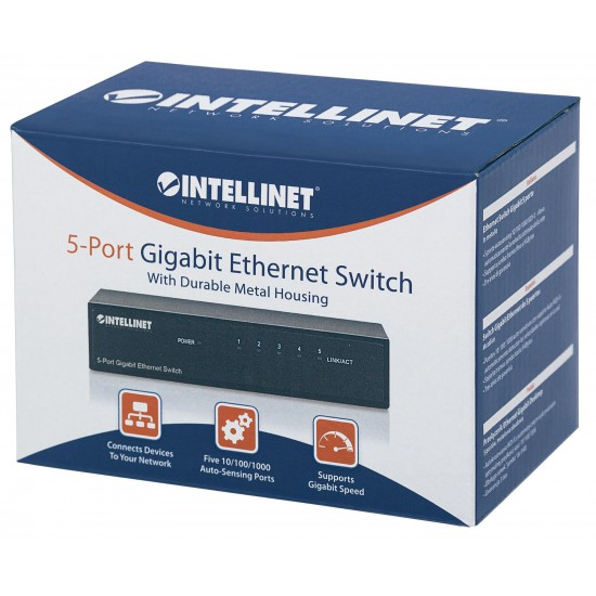 Switch Ethernet Gigabit con 5 porte da tavolo