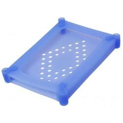 "Internal 2.5"" Silicone HARD DISK Enclosure Box Light Blue"
