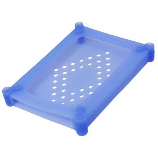 Box Contenitore per HARD DISK interno da 2,5 pollici in Silicone Azzurro
