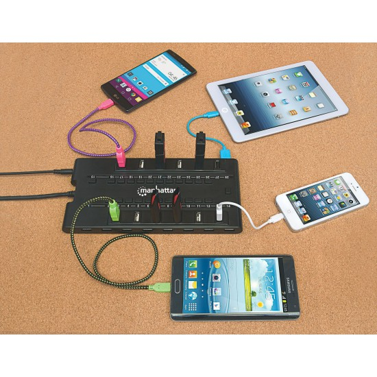 Hub USB da 24 porte USB2 più 4 porte USB3 con Alimentatore