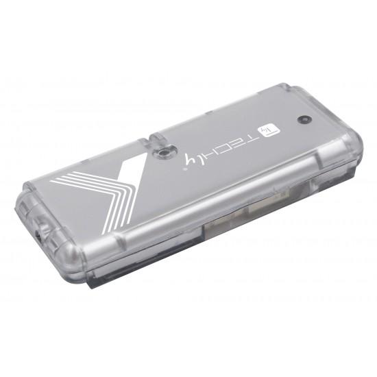 Hub USB 2 Tascabile da 4 porte colore argento