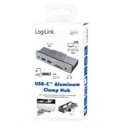 USB-C™ Hub 3.2 Gen 1 Multifunction 7-in-1 Aluminum with Clamps