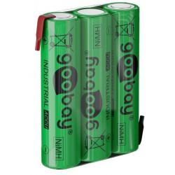 Rechargeable NiMH 3xAAA HR3 800 mAh 3.6 Volt soldered batteries