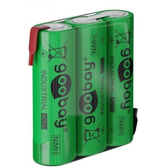 Batterie Ricaricabili NiMH 3xAA HR6 2100 mAh 3.6 Volt a Saldare