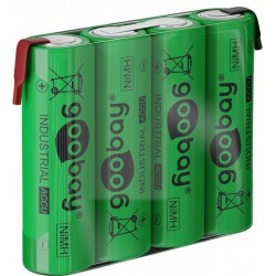 Rechargeable NiMH 4xAA HR6 2100 mAh 4.8 Volt soldered batteries