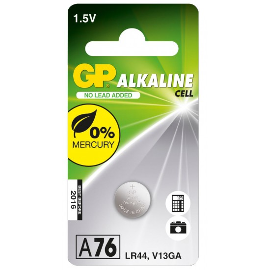 Batteria a bottone alcalina da 1,5 VoltA76 LR44