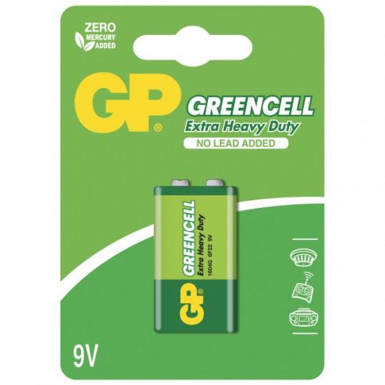 Greencell Zinc/Carbon 9V battery 6F22