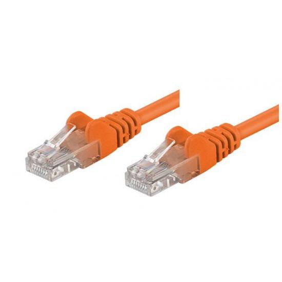 Cavo di rete Patch CCA Categoria 5e Arancio UTP 1 mt