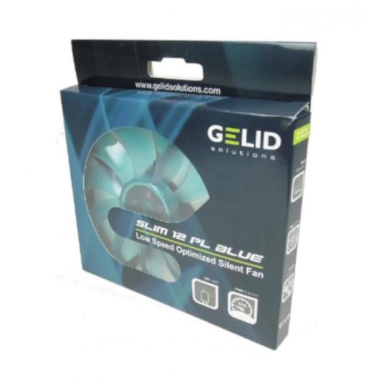 Ventola Slim da 120x120x15,8mm 12V PL Blu