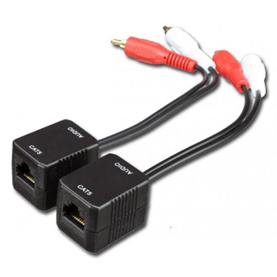 Extender Audio Stereo su cavo RJ45 Categoria 5 e ingresso con 2xRCA