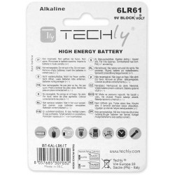 Batteria High Power Alcalina 6LR61 da 9 Volt