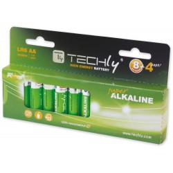 12 Batterie High Power Stilo AA Alcaline LR06 1,5 Volt