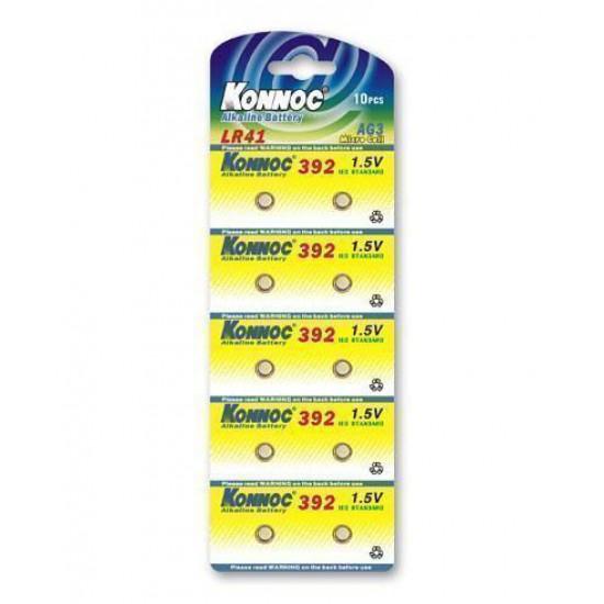 Confezione da 10 batterie a bottone alcaline LR41 LR736 392 AG3 da 1,5 Volt