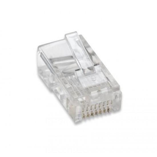 Confezione da 100 Plug RJ45 UTP per Cavo Flessibile Categoria 5E