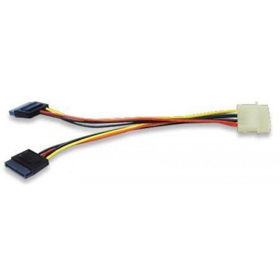 Cavo adattatore alimentazione interna da Molex 4-pin Standard a 2 x Serial ATA