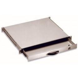 "1U Keyboard Drawer for Rack 19"" Wardrobes with Grey Lock"