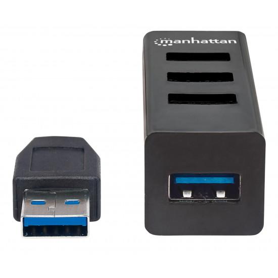 Hub USB compatto da 3 porte USB2 e una USB3 colore Nero