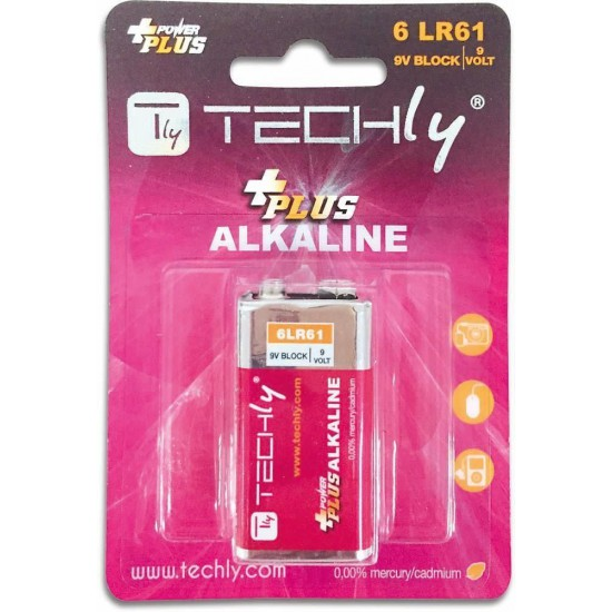 Batteria da 9 Volt Alcalina Power Plus 6LR61