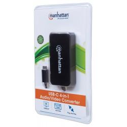 4-in-1 USB-C™ 4-in-1 multifunction adapter to DP/HDMI/DVI/VGA Black