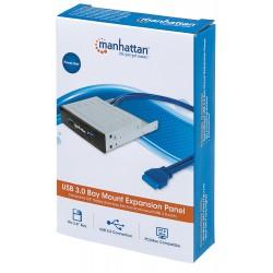 """Hub Interno in metallo per alloggiamento da 3,5"""" con 2 Porte USB 3.0"""