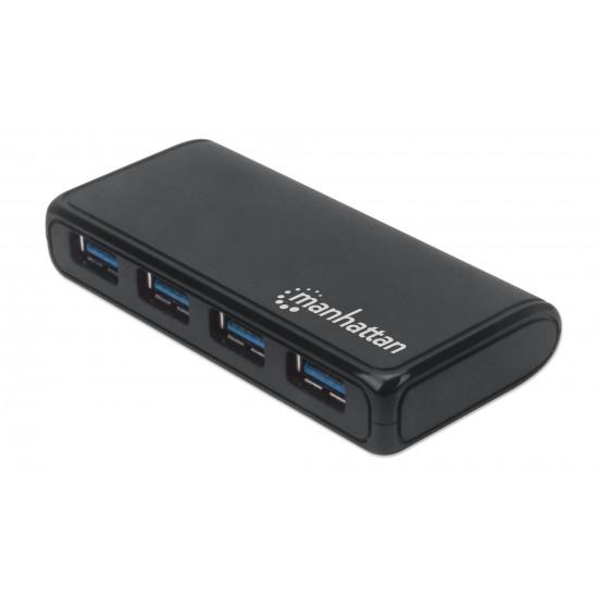 Hub USB 3.2 Gen 1 a 4 porte con adattatore di alimentazione esterno