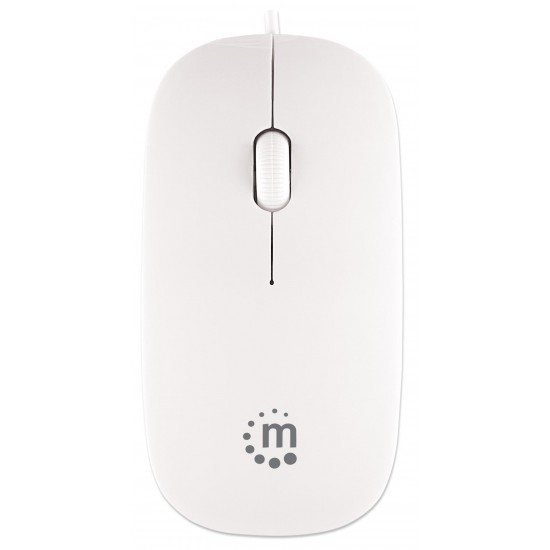 Mini Mouse Ottico USB Silhouette Cavo da 1,2m Bianco