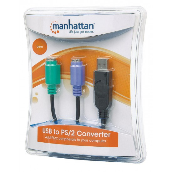 Adattatore da USB a doppio PS/2