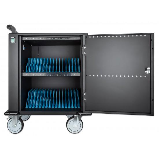 Carrello Stazione di Ricarica USB-C™ per 32 Notebook/Tablet/Smartphone Nero