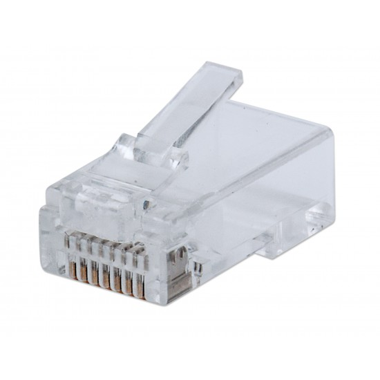 Confezione da 100 Plug modulari RJ45 Categoria 5e FastCrimp