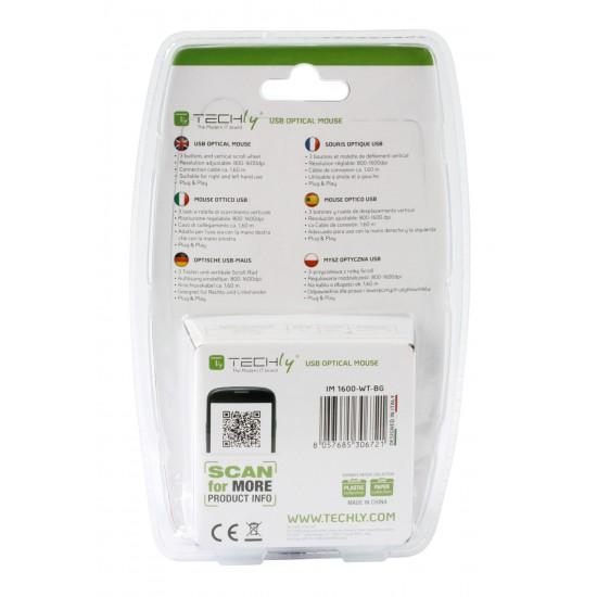 Mouse Ottico USB con risoluzione regolabile da 800 a 1600 dpi Nero/Verde