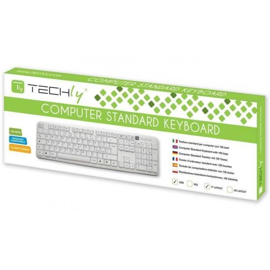 Tastiera 105 tasti USB Standard bianca