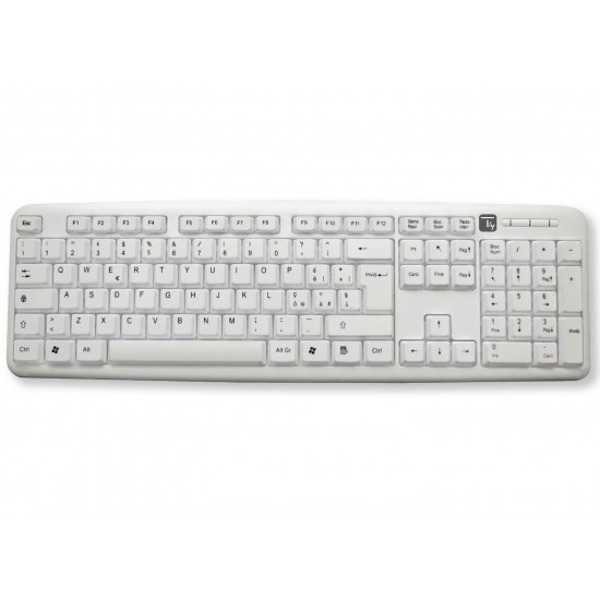 Keyboard 105 USB keys Standard white