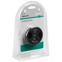 USB 2.0 Hub with 3 In-Desk ports for 6 cm diameter conduit nozzle