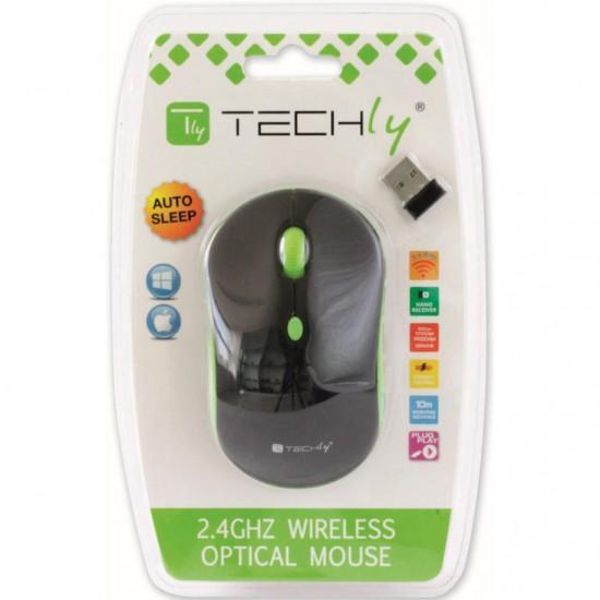 Mouse Wireless 2.4GHz con risoluzione da 800 a 1600 dpi Nero/Verde