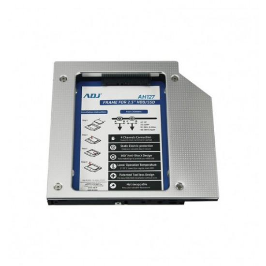 Adapter tray for HardDisk on CD slot for notebooks 12.5mm thick