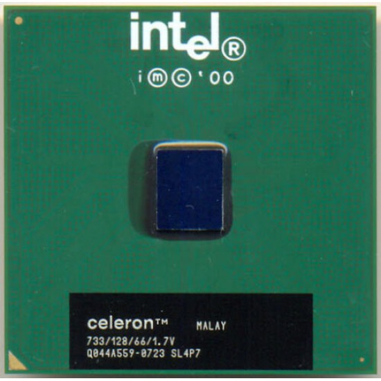 CPU Intel Celeron SL4P7 733Mhz/128KB/66Mhz Socket 370 1.7V