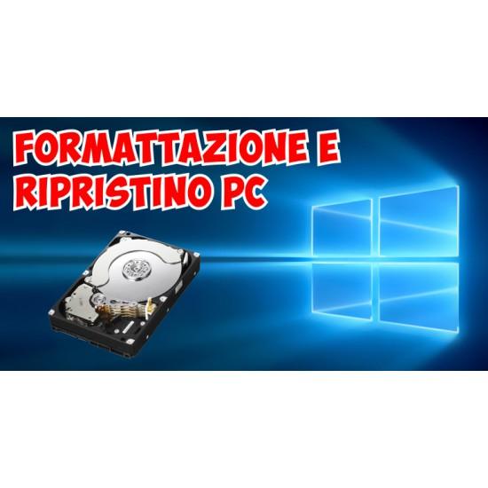 Formattazione e reinstallazione Windows su PC e WorkStation con recupero dati preesistenti