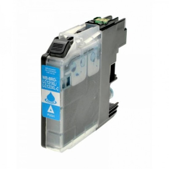 LC123C XL compatible black ink cartridge for Brother printers