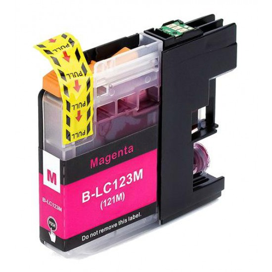 Magenta LC123M XL compatible black ink cartridge for Brother printers