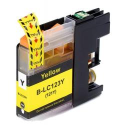 Cartuccia inchiostro Giallo compatibile LC123Y XL per stampanti Brother