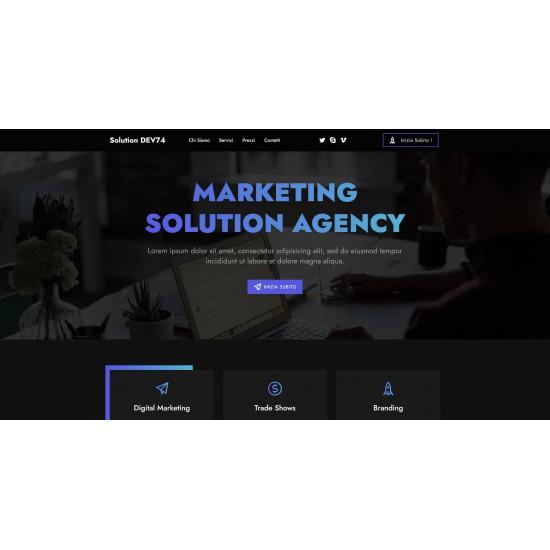 Realizzazione Sito Web Landing Page con responsività avanzata e tema grafico responsivo ottimizzato per marketing, promozioni, lancio novità ecc..