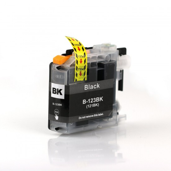LC123BK XL compatible black ink cartridge for Brother printers